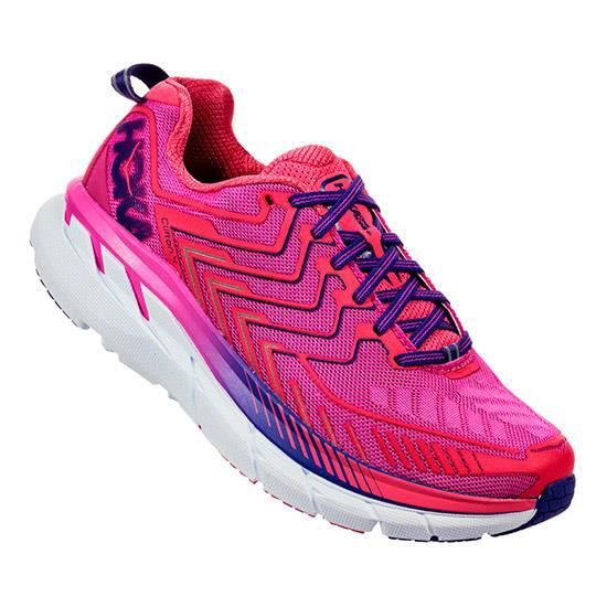 Chaussures Hoka One One Clifton 4 rose rouge femme