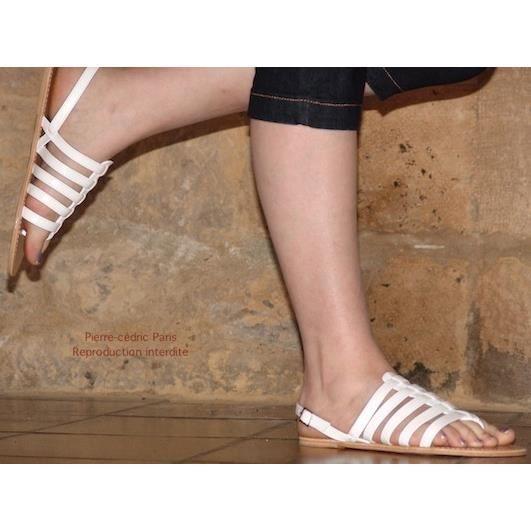 Sandales Spartiates Style Tropeziennes simili cuir CyiPdC