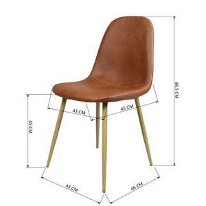 chaises scandinaves marron achat vente pas cher. Black Bedroom Furniture Sets. Home Design Ideas