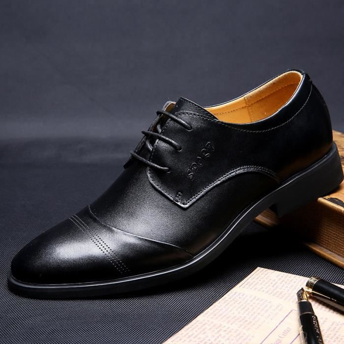 cuir hommes chaussures habillées Mode hommes ch...