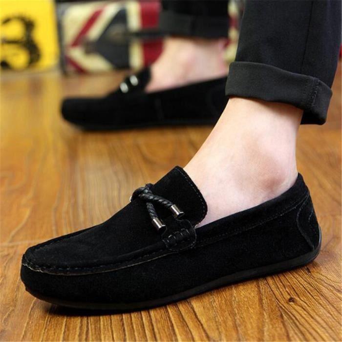 Mocassins Hommes Printemps Ete Leger Mode Chaussures LKG-XZ077Noir43 QjIbYeu8tU