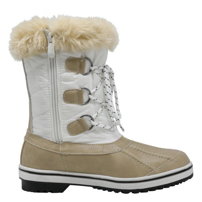 Swiss mi-mollet Bottes imperméable hiver neige IJ1MT Taille-37
