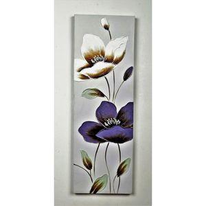 TABLEAU - TOILE Tableau déco Fleurs  115 -  Toile peinte à la main