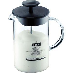 BODUM LATTEO Fouet ? lait manuel avec anse en verre 0.25 l Noir