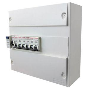 DEBFLEX Tableau électrique pré-équipé 1 rangée 13 modules
