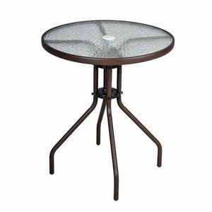 Table jardin avec trou pour parasol - Achat / Vente Table jardin ...