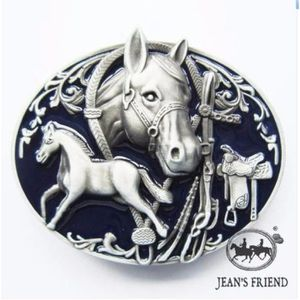 boucle ceinture western country cowboy cheval étalon bleu argent fasten 04070b1497f