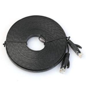 MODEM - ROUTEUR 500cm plat réseau Cat6 Patch Cable Modem Routeur E