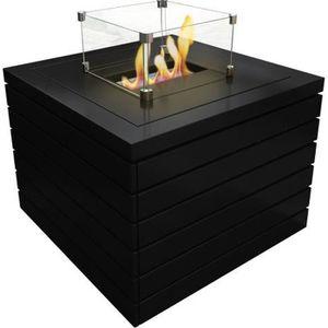 CHEMINÉE Erebus une table basse équipé d'un brûleur bio éth