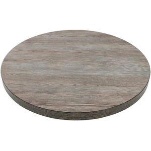 PLATEAU DE TABLE Plateau de table rond 600mm effet bois gris