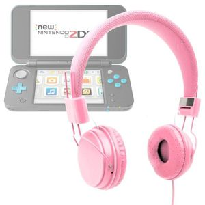 CONSOLE NEW 2DS XL Casque rose enfant pour console de jeux Nintendo 2