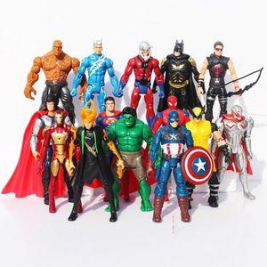 FIGURINE - PERSONNAGE 14PCS Avengers Figurines 15cm Hulk Iron Man Marvel