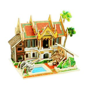 PUZZLE Puzzle en Bois 3D Jeux Créatif Hôtel Thaïlande 56