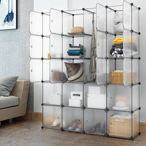 ARMOIRE DE CHAMBRE LANGRIA 20 Cubes Armoire Penderie DIY Modulable Me