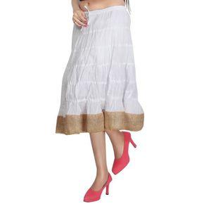 JUPE CARREL Tissu en coton Broomstick Jupe de femmes (a
