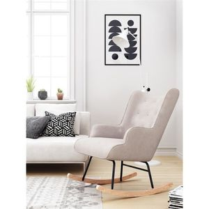 FAUTEUIL Fauteuil à bascule Rocking Chair  H92X100X68CM Bei
