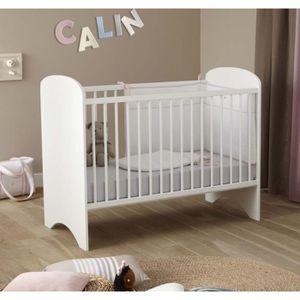 lit bebe bois blanc achat vente lit bebe bois blanc pas cher cdiscount. Black Bedroom Furniture Sets. Home Design Ideas