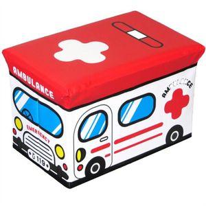 BOITE DE RANGEMENT Ambulance enfants pliant Boîte de rangement Jouets