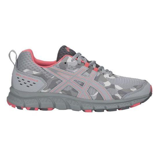90ff874f957 Asics Gel Scram 4 Trail Chaussures De Course Running Trail Femmes Gris Rose