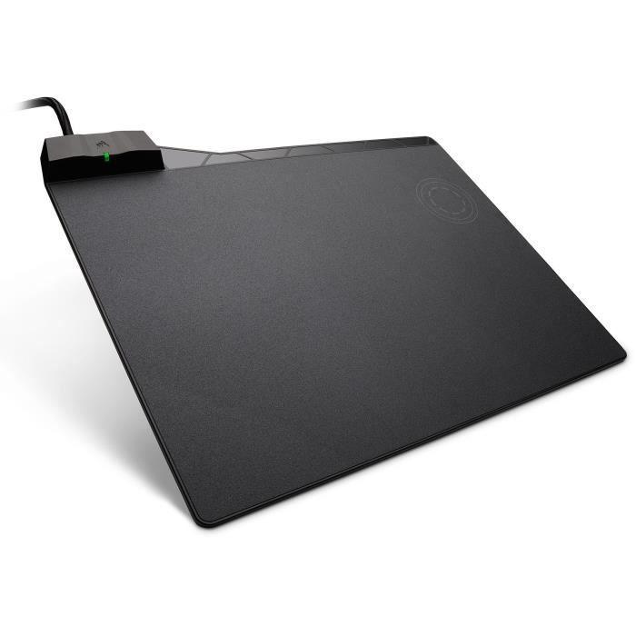 CORSAIR Tapis de Souris Gamer Rigide MM1000 - 350mm x 260mm x 5mm - Chargeur à Induction Intégré (CH-9440022-EU)