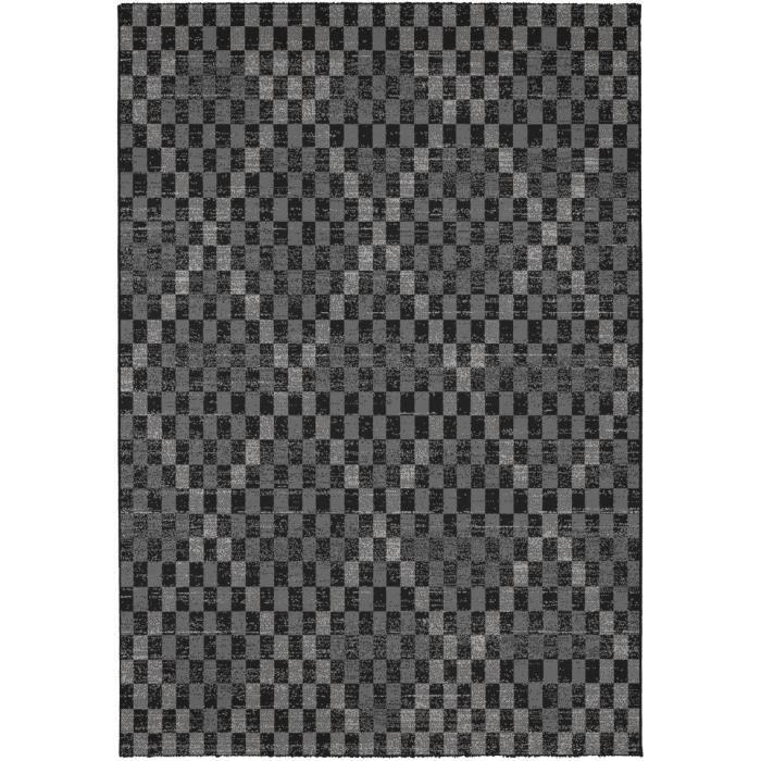 MADRID Tapis style contemporain 120X170 cm Noir / Gris