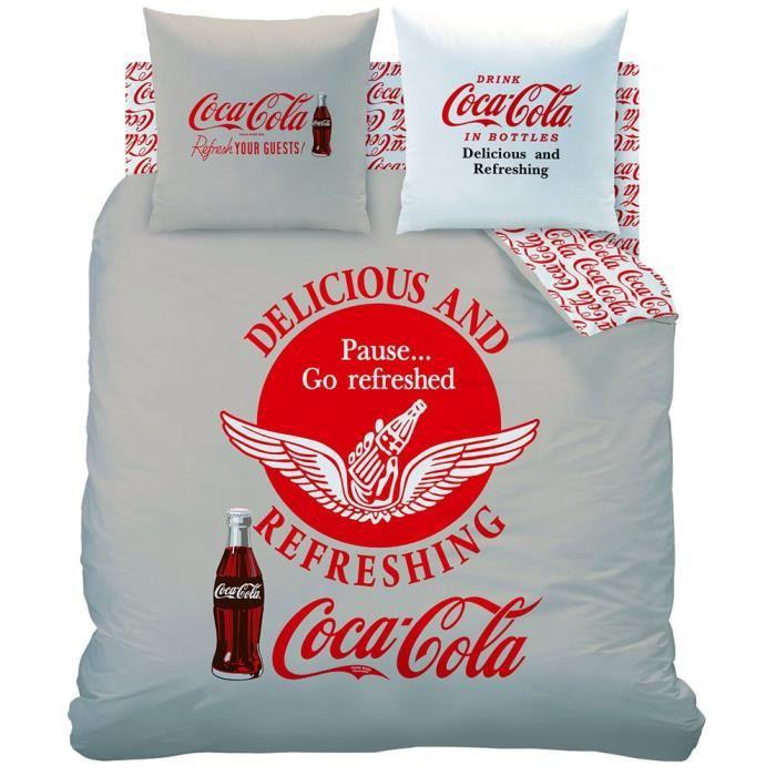 linge de lit coca cola Parure de lit Coca Cola 240 cm.   Achat / Vente parure de drap  linge de lit coca cola