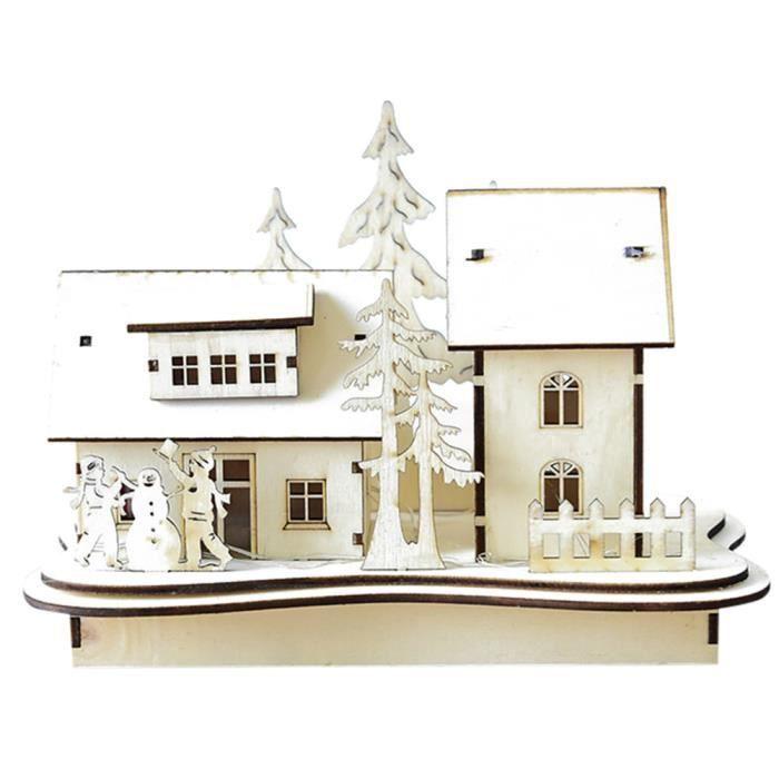 D coration de noel diy petite maison en bois la petite cour achat vente village man ge for Decoration petite maison