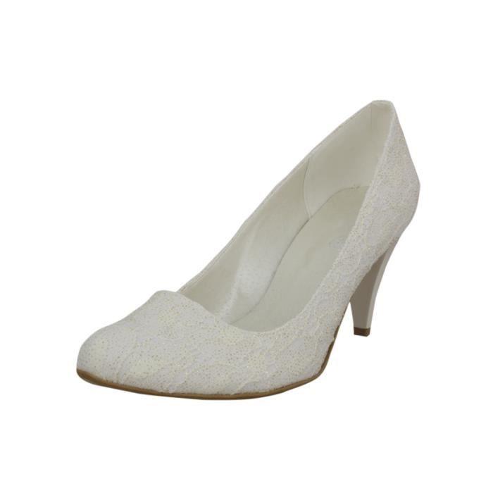 Ecru Achat Chaussures De Mariée Ivoire Dentelle HIWED29