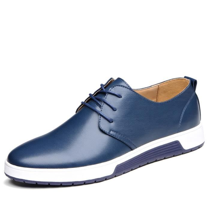 Chaussures De Cuir Homme Chaussures Respirant C... zxbOJEqEoY