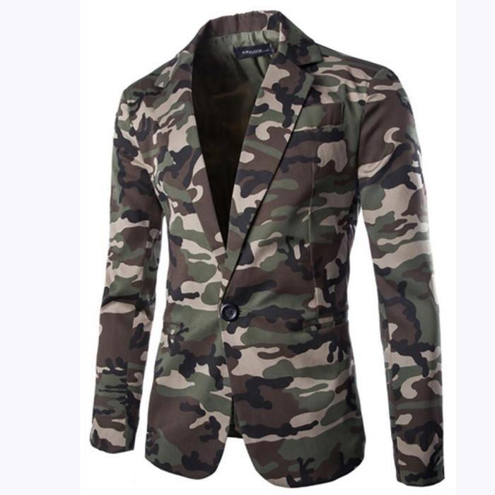 Costume De Casual Camouflage Urbain Homme Veste Camouflage Urbain De