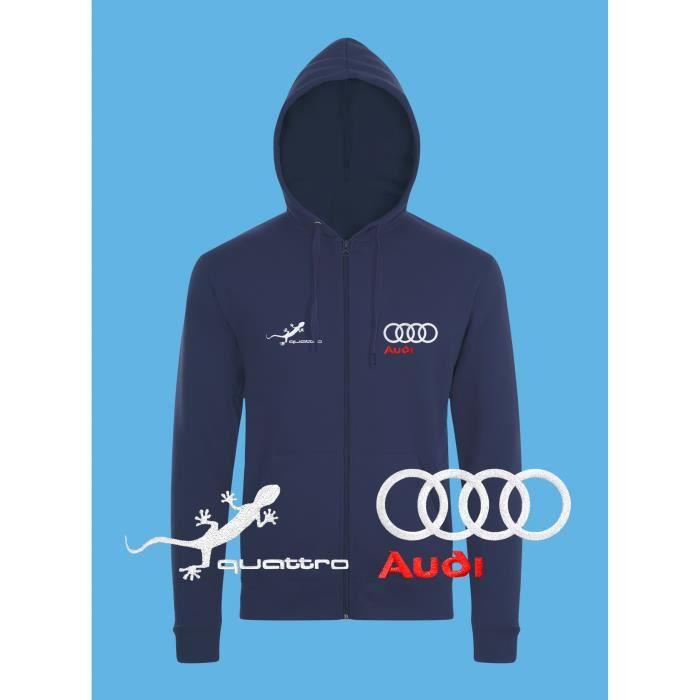 Pull Brodé Femmes Zippé Sweat Hoodies Sweatshirt Capuche Hommes nbsp;logo Auto Audi Noël Fête Longues À Veste Manches Сadeau Bleu Quattro qcw4HXR0nI