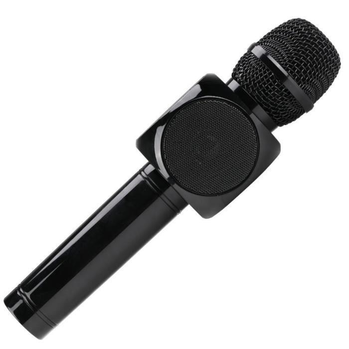 Microphone Bluetooth 2-en-1 Sans Fil Portable Multifonction Karaoké De Poche Avec 3d Haut-parleurs Hi-fi Pour Les Ios Android Phone