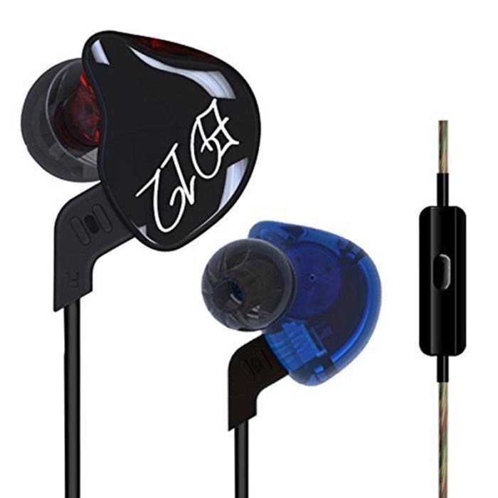 Kz Écouteurs À Isolation Sonore Anti-sueur De Sports Course Stéréo Audio Basse 3.5mm Câble Détachable