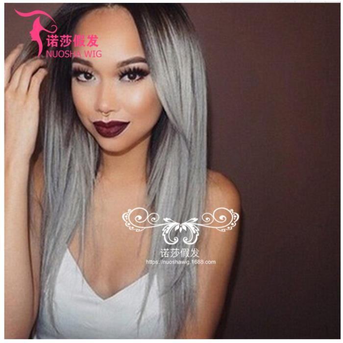 Cheveux Longs Droit Lolita Manga Coiffures Resistant A La Chaleur