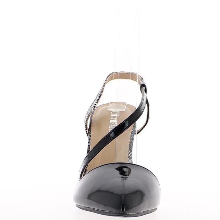 Sandales noires à talon fins de 10cm bouts pointus hhUdlvOW