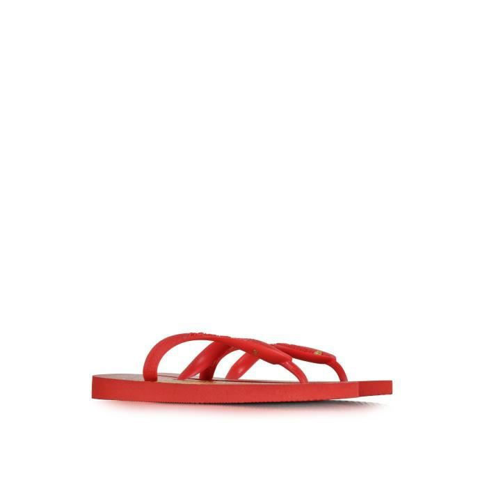 CHARLOTTE OLYMPIA FEMME VPP9413600 ROUGECAOUTCHOUC TONGS