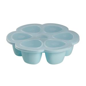 CONSERVATION REPAS BEABA Multiportions silicone 6x150 ml blue