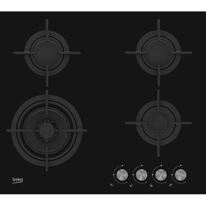 PLAQUE POSABLE Beko HILW64222S, Intégré, Cuisinière à gaz, Verre,