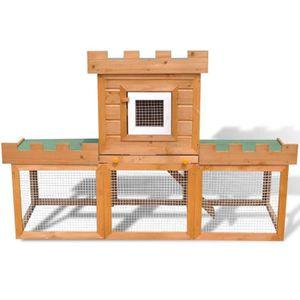 CLAPIER mewmewcat Grande Cage Clapier Extérieur pour Lapin