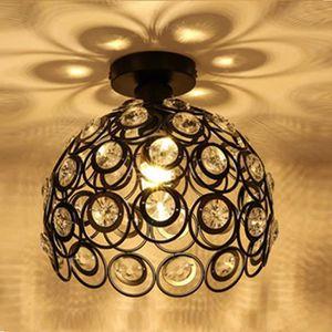 PLAFONNIER Plafonnier en Cristal Métal fer Lampe de Plafond L