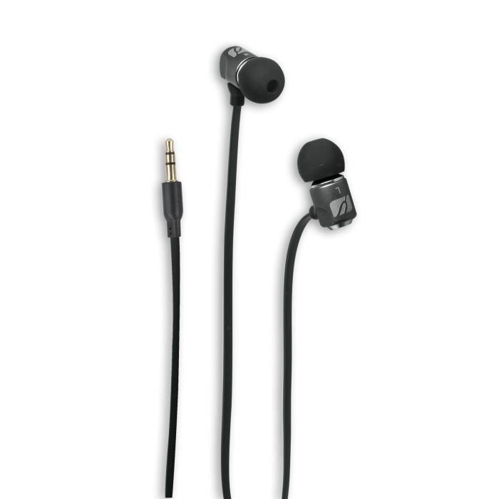 MUSE M-107 CF Ecouteurs stéréo avec microphone et télécommande - Noir