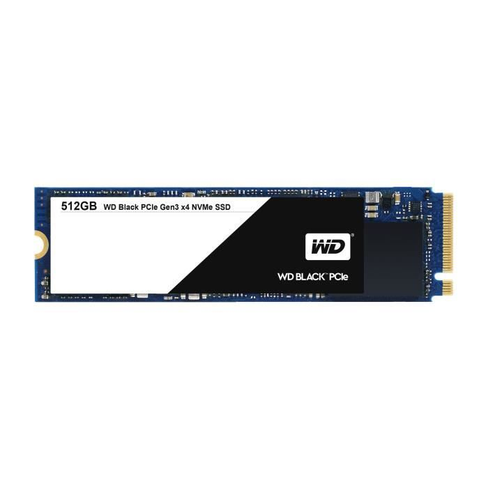WESTERN DIGITAL BLACK SSD WDS512G1X0C - 512 Go - Noir