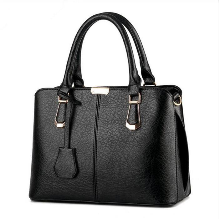 sac bandouliere sac cuir sac de luxe sac marque sac chaine luxe Sacoche Femme sac à main femme de marque luxe cuir 2017 sac Noir