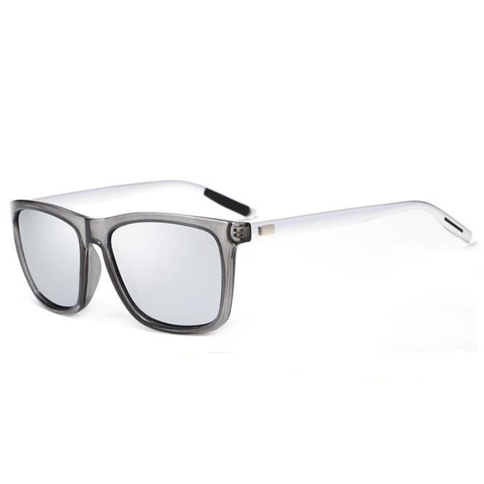 Blanc sunglasses de femme Lunettes soleil Luxe Noir marque Cadre homme de mixte Métal et Fashion qzpZ6wzx