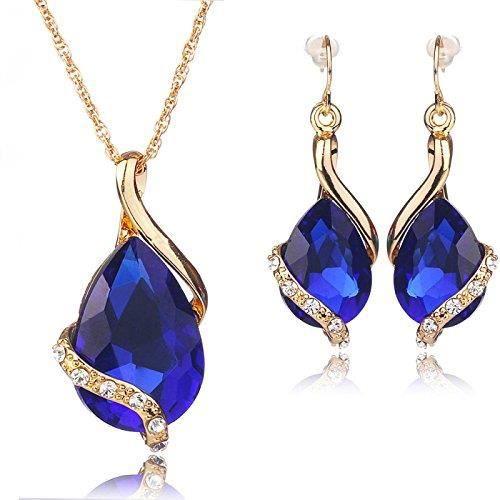 Femmes Spiritueux Balançoires en cristal et Zircon clouté 18k or jaune en alliage bijouxWTSX3