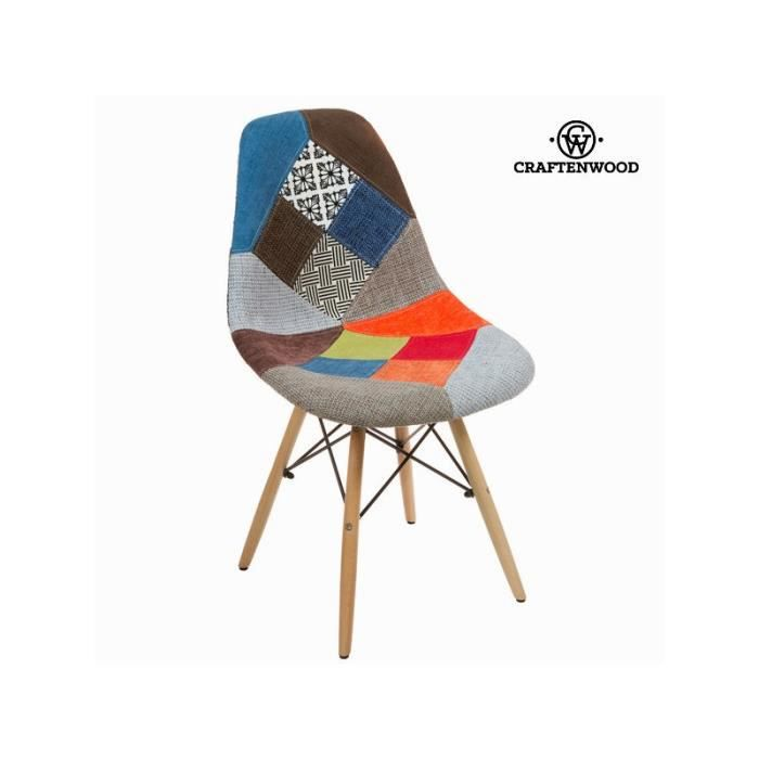 5307ceefeadd17 Chaise abs patchwork by Craften Wood - Achat   Vente chaise - Cdiscount