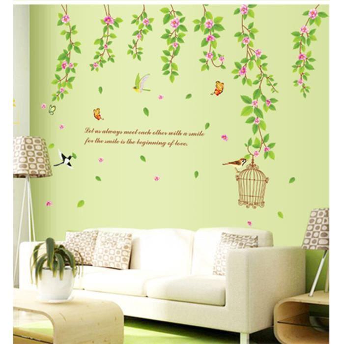 stickers plante verte achat vente stickers plante verte pas cher cdiscount. Black Bedroom Furniture Sets. Home Design Ideas