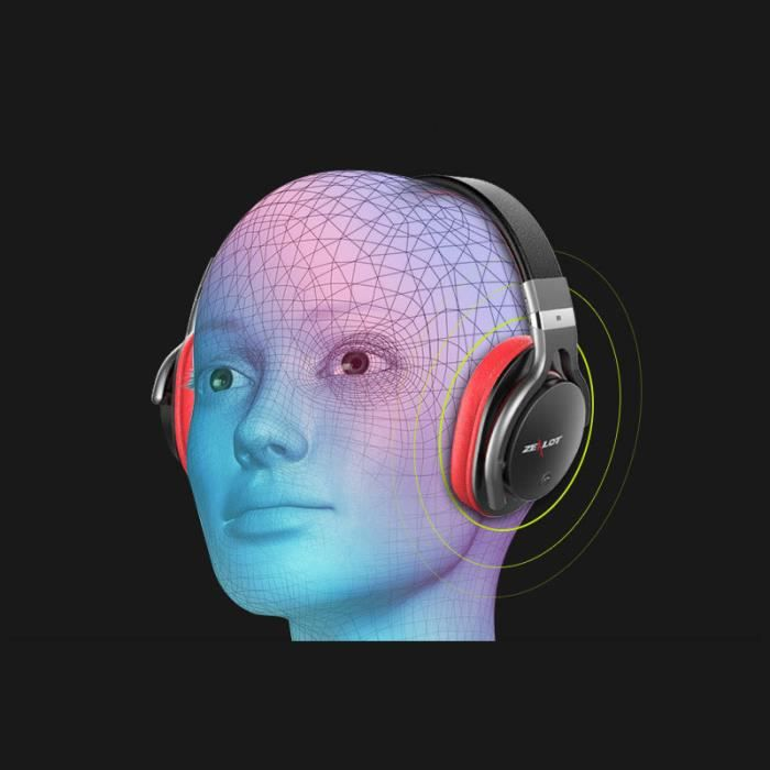 4.0 Casques Bluetooth Lecteur Mp3 Stéréo Casque Sans Fil Over-ear-rouge