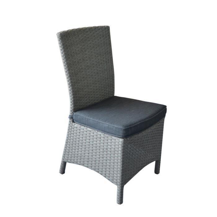 Chaise de jardin beige résine tressée (lot de 2) SARDANA - Achat ...