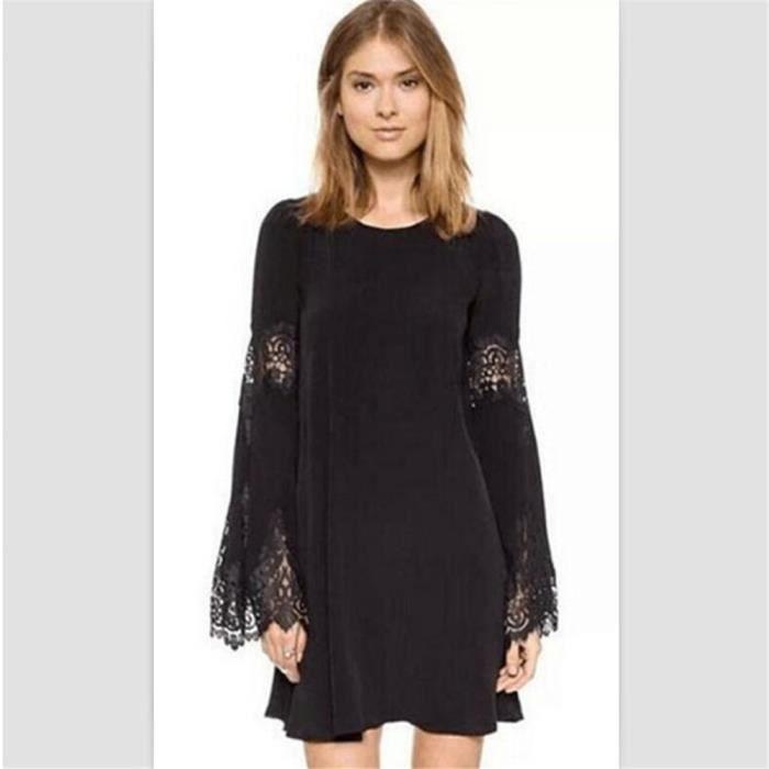 robe courte femme ete 2018 De Marque De Luxe robes vetement femmes  Confortable Nouvelle Mode blouse dentelle grande taille ab14f78f0a1